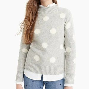 J.Crew Women's Rollneck Sweater in Dots